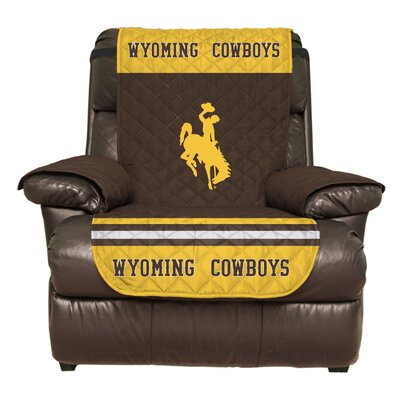 NCAA Polyester Recliner Slipcover NCAA Team: University of Wyoming