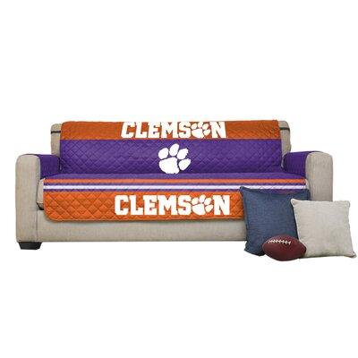 NCAA Polyester Sofa Slipcover NCAA Team: Clemson University