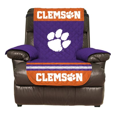 NCAA Polyester Recliner Slipcover NCAA Team: Clemson University