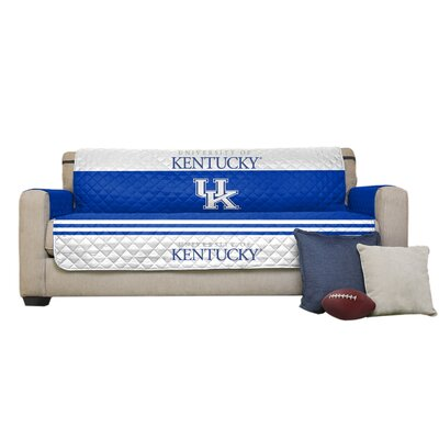 Auburn Protector Polyester Loveseat Slipcover with Elastic Straps NCAA Team: University of Kentucky