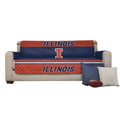 NCAA Polyester Sofa Slipcover NCAA Team: University of Illinois Urbana-Champaign