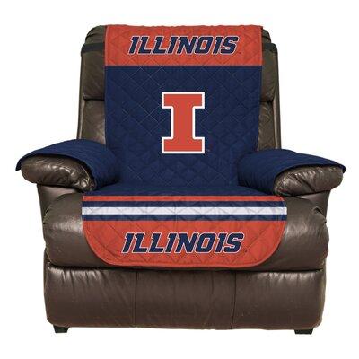 NCAA Polyester Recliner Slipcover NCAA Team: University of Illinois Urbana-Champaign