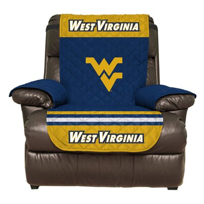 NCAA Polyester Recliner Slipcover NCAA Team: West Virginia University