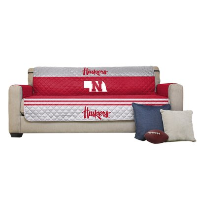 NCAA Polyester Sofa Slipcover NCAA Team: University of Nebraska, Lincoln