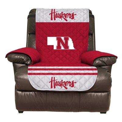 NCAA Polyester Recliner Slipcover NCAA Team: University of Nebraska, Lincoln