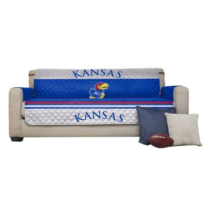 NCAA Polyester Sofa Slipcover NCAA Team: University of Kansas