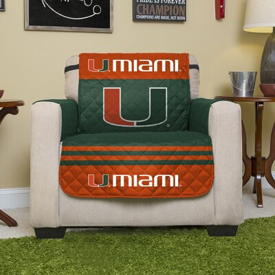 Stanford Protector Polyester Recliner Slipcover with Elastic Straps NCAA Team: University of Miami (Florida)