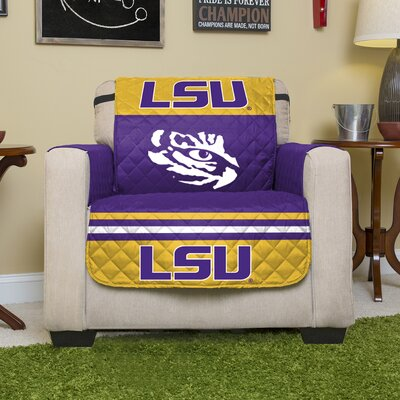 Stanford Protector Polyester Recliner Slipcover with Elastic Straps NCAA Team: Louisiana State University