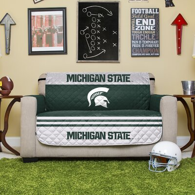 NCAA Polyester Sofa Slipcover NCAA Team: Michigan State University