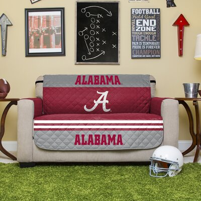 Stanford Protector Polyester Sofa Slipcover with Elastic Straps NCAA Team: University of Alabama