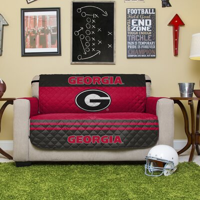 NCAA Polyester Sofa Slipcover NCAA Team: University of Georgia