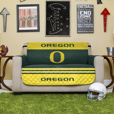 Stanford Protector Polyester Sofa Slipcover with Elastic Straps NCAA Team: University of Oregon