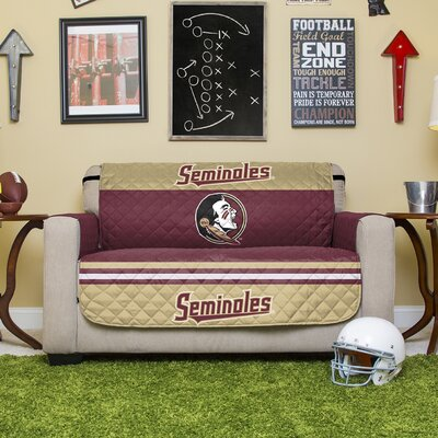 Stanford Protector Polyester Sofa Slipcover with Elastic Straps NCAA Team: Florida State University