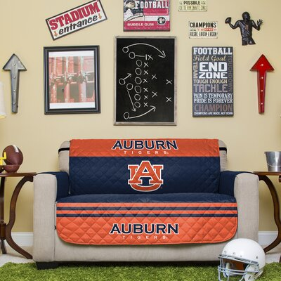 NCAA Polyester Loveseat Slipcover NCAA Team: Auburn University