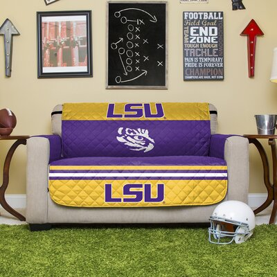 NCAA Polyester Loveseat Slipcover NCAA Team: Louisiana State University