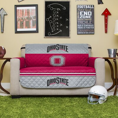 NCAA Polyester Loveseat Slipcover NCAA Team: The Ohio State University