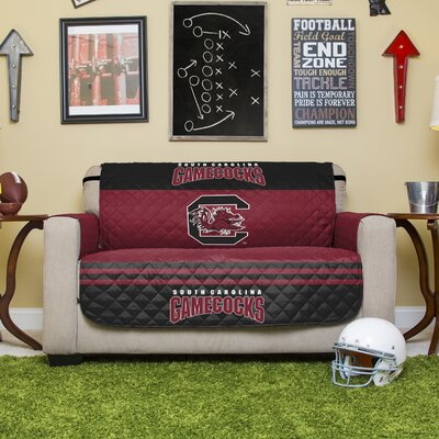 Auburn Protector Polyester Loveseat Slipcover with Elastic Straps NCAA Team: University of South Carolina, Columbia