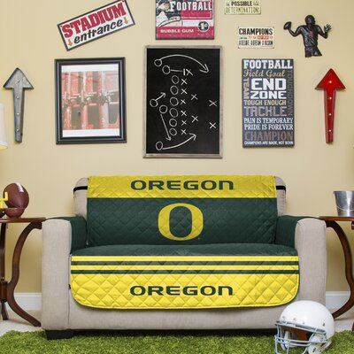 NCAA Polyester Loveseat Slipcover NCAA Team: University of Oregon