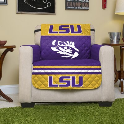 NCAA Polyester Armchair Slipcover NCAA Team: Louisiana State University