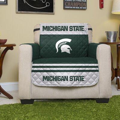 NCAA Polyester Armchair Slipcover NCAA Team: Michigan State University