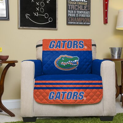 Auburn Protector Polyester Chair Slipcover with Elastic Straps NCAA Team: University of Florida