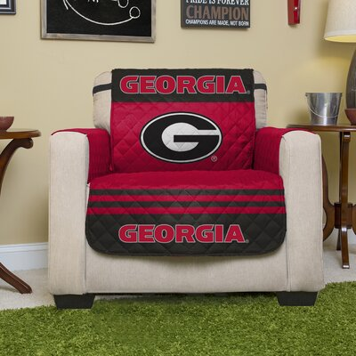 Auburn Protector Polyester Chair Slipcover with Elastic Straps NCAA Team: University of Georgia