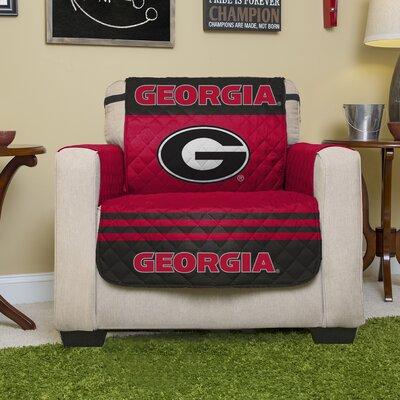NCAA Polyester Armchair Slipcover NCAA Team: University of Georgia