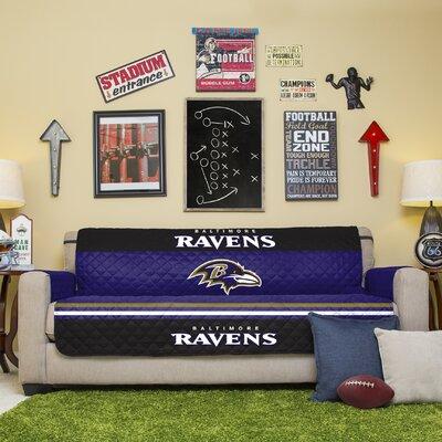NFL Sofa Slipcover NFL Team: Baltimore Ravens