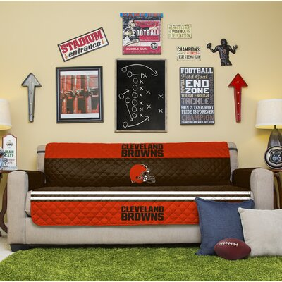 NFL Sofa Slipcover NFL Team: Cleveland Browns