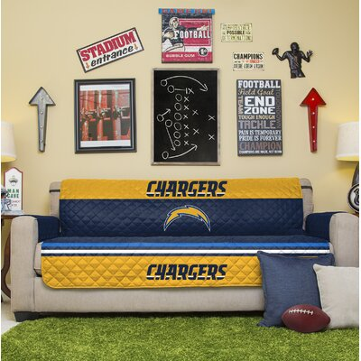 NFL Sofa Slipcover NFL Team: Los Angeles Chargers