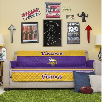NFL Sofa Slipcover NFL Team: Minnesota Vikings