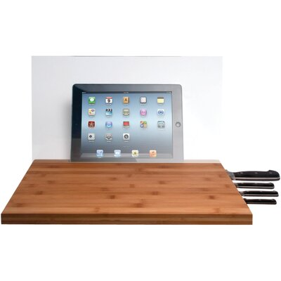 Mini Cutting Board with Screen Shield and Knife Storage for iPad Air/iPad with Retina Display/iPad 3rd Gen/iPad 2/iPad