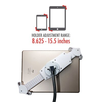 Heavy-Duty Gooseneck Floor Stand for iPad and Tablet Mounting System