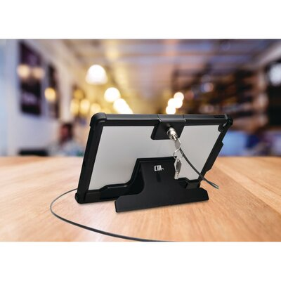 Security Case with Kickstand and Galvanized Steel Antitheft Cable for Pro 12.9 iPad Mounting System