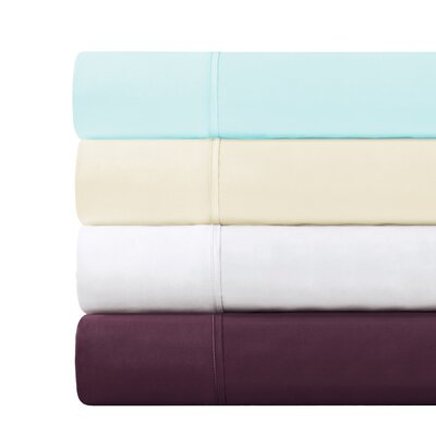 CVC Wrinkle Resistant Performance 500 Thread Count Pillowcases Size: King, Color: Blue