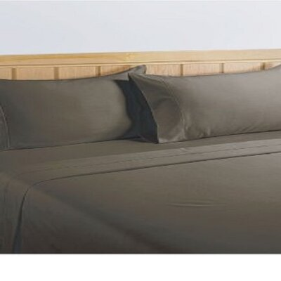 325 Thread Count Cotton Sheet Set Color: Elephant Grey, Size: Twin