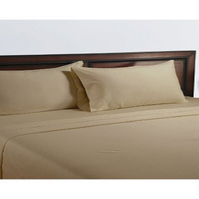 325 Thread Count Cotton Sheet Set Color: Pita Bread, Size: Twin