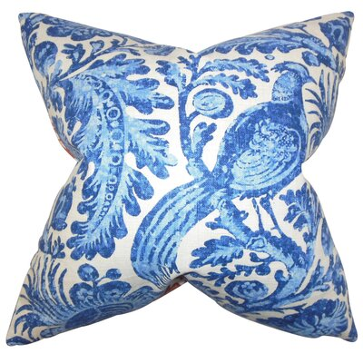 Cadeau Floral Throw Pillow Cover Size: 20 x 20, Color: Chambray