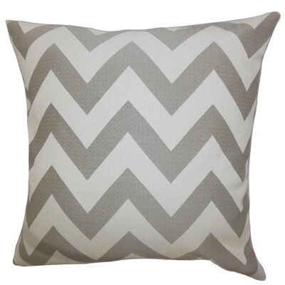Diahann Chevron Throw Pillow Cover Size: 18 x 18, Color: Grey