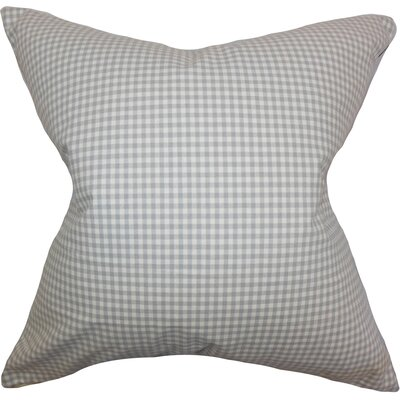 Xandy Plaid Cotton Throw Pillow Cover Size: 18 x 18, Color: Grey