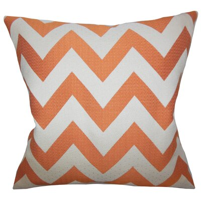 Diahann Chevron Throw Pillow Cover Size: 18 x 18, Color: Mango