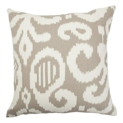 Broadmeadow Ikat Floor Pillow Color: Fog