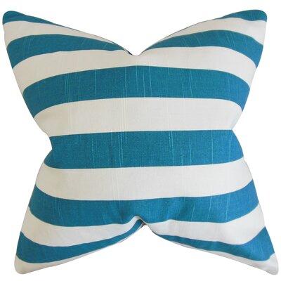 Knotts Outdoor 100% Cotton Throw Pillow Color: Aquarius, Size: 18 H x 18  W