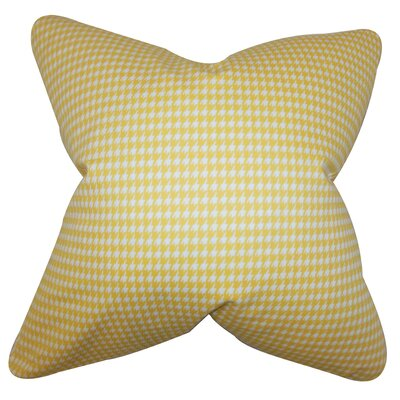 Lviv Cotton Throw Pillow Color: Yellow, Size: 22 x 22