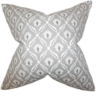 Alzbet Geometric Cotton Throw Pillow Cover Color: Steel