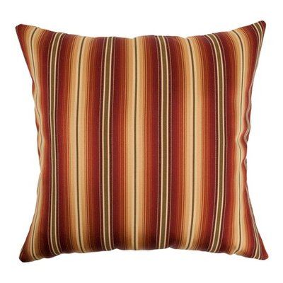 Aaron Stripes Floor Pillow Color: Sunset