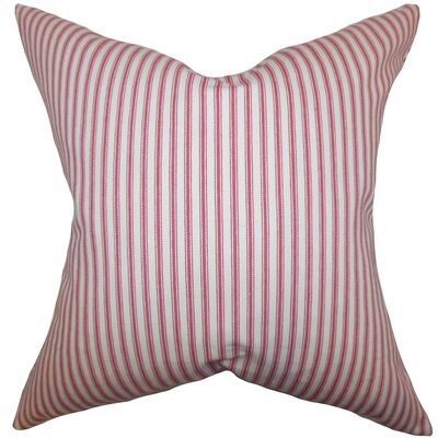 Ferebee Stripes Cotton Throw Pillow Cover Size: 20 x 20, Color: American Beauty