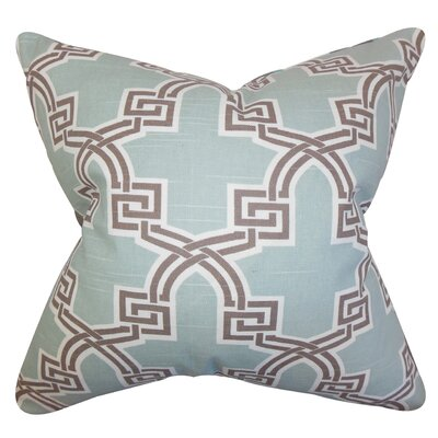 Letha Geometric Cotton Throw Pillow Cover Color: Blue