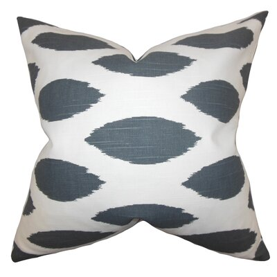 Juliaca Ikat Throw Pillow Color: Gray, Size: 18 H x 18 W