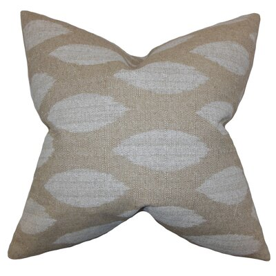 Juliaca Ikat Throw Pillow Color: Natural, Size: 18 H x 18 W